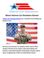 Veteran Car Donation in Denver