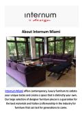 Internum Miami- Contemporary Furniture in Miami