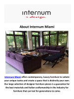 Internum Miami- Contemporary Furniture in Miami