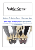 Fashion Corner - Warehouse Fashion Shoes