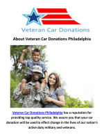 Veteran Car Donations in Philadelphia Pennsylvania