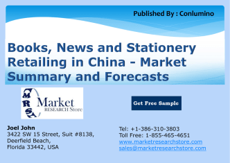 Books, News and Stationery Retailing in China - Market Summary and Forecasts