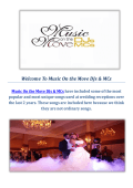 Music On the Move DJs & MCs : Sacramento Wedding Disc Jockey