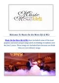 Music On the Move DJs & MCs : Sacramento Wedding Disc Jockey