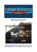 High Octane Automotive : Car Maintenance In Reseda