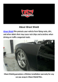 Ghost Shield : Vinyl Car Wrap In Hollywood