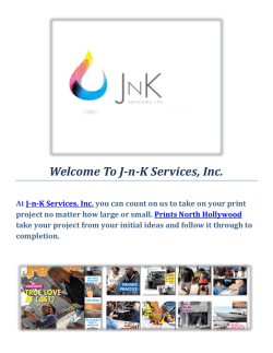 North Hollywood Prints by J-n-K Services, Inc.