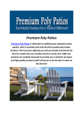 Premium Poly Patios : Berlin Gardens Polywood Furniture