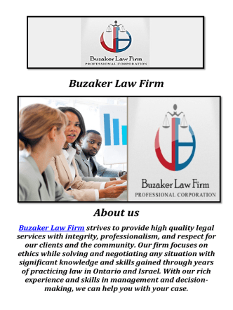 Buzaker Law Firm in toronto ( 905-370-0484 )