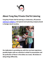 Yung Nay Private Chef & Catering Raleigh NC