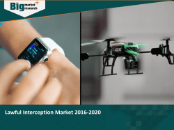 Lawful Interception Market 2016-2020