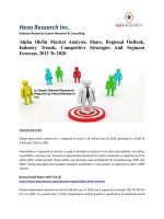 Alpha Olefin Market Analysis, Share, Regional Outlook, Industry Trends, Competitive Strategies And Segment Forecast, 2012 To 2020