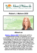 Robert J. Malone DDS: Escondido Cosmetic Dentist