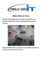 Rely on It Inc - Bay Area It Support Los Altos