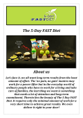 The 5 Day FAST Diet (201-569-2900)