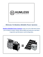 Portable Solar Power Generator : Humless Reliable Power Systems