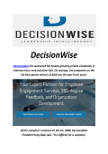 DecisionWise : 360 Degree Feedback Questions