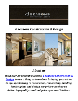 4 Seasons Home Construction & Design Services In Hidden Hills CA