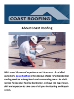 Coast Roofing - Long Beach Roofing Contractor
