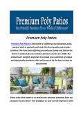Premium Poly Patios : Adirondack Polywood Chairs