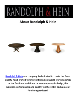 Randolph & Hein Handmade Furniture in Los Angeles