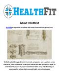 HealthFit : Chiropractic In Pasadena