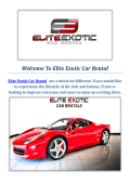 Elite Exotic Car Rental Luxury Car in Las Vegas