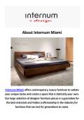 Internum Miami - Luxury Furniture in Miami