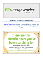 Imageworks Supply Sale Canvas Frame Kit