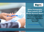 Global Photographic Paper Industry definitions, classifications, applications and industry chain structure