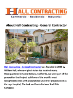 General Hall Contractor in Santa Barbara Construction