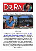 Dr. Raj - Beverly Hills Orthopedic Institute: Orthopedic Surgeon in Beverly Hills CA