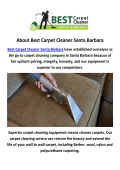 Best Carpet Cleaner Santa Barbara : Best Carpet Service