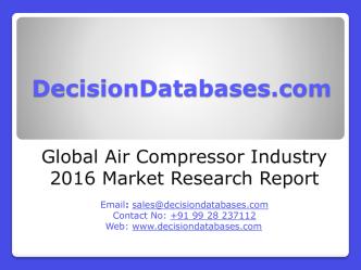 Air Compressor Market International Analysis and Forecasts 2020