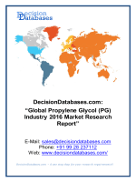 Propylene Glycol Market Research Report: Global Analysis 2020-2021