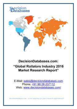Global Rollators Industry 2016 Market Research Report