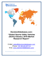 Global Sports Utility Vehicles (SUVs) Market 2016:Industry Trends and Analysis
