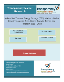 Molten Salt Thermal Energy Storage Market 2015 - 2023
