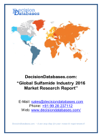 Sulfamide Market Analysis 2016 Development Trends