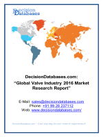 Global Valve Market and Forecast Report 2016-2020