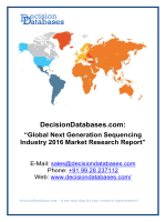 Next Generation Sequencing Market Analysis and Forecasts 2020