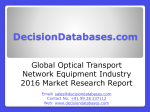 Global Optical Transport Network Equipment Industry- Size, Share and Market Forecasts 2020