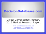 Global Carrageenan Industry Sales and Revenue Forecast 2016