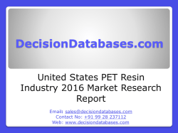 PET Resin Market Analysis and Forecasts 2020