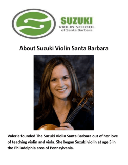 Suzuki Violin Guitar Lessons in Santa BarbaraSuzuki Violin Guitar Lessons in Santa Barbara