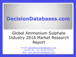 Global Ammonium Sulphate Industry- Size, Share and Market Forecasts 2020
