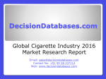 Cigarette Market Analysis 2016 Development Trends