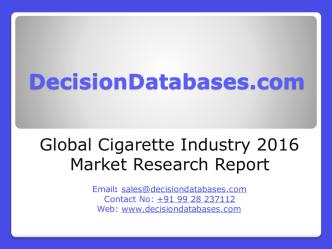 Cigarette Market Analysis 2016 Development Trends
