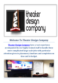 Theatre Design and Installation Company in Seattle