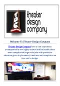 Theatre Design and Installation Company in Seattle